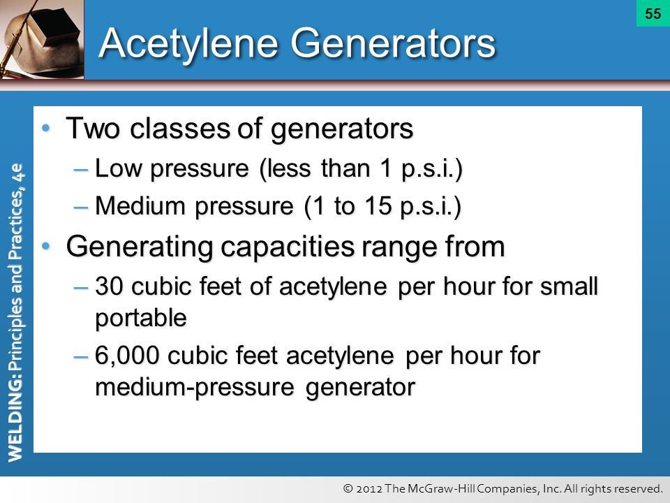 Acetylene Generators Two classes of generators