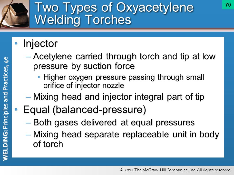 Two Types of Oxyacetylene Welding Torches