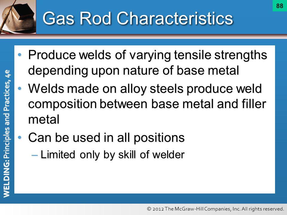 Gas Rod Characteristics