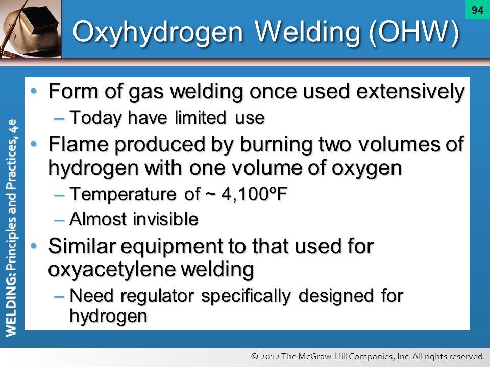 Oxyhydrogen Welding (OHW)