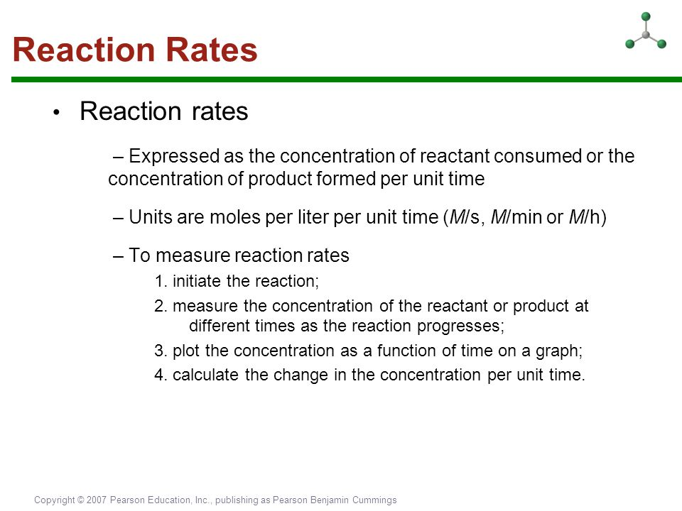 Reaction Rates • Reaction rates