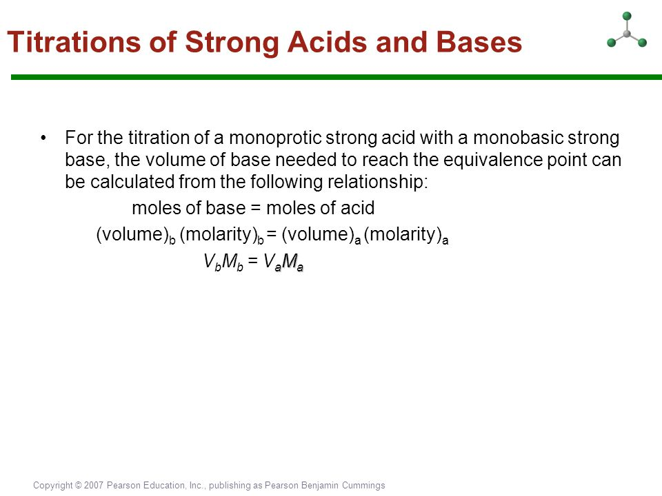 Titrations of Strong Acids and Bases