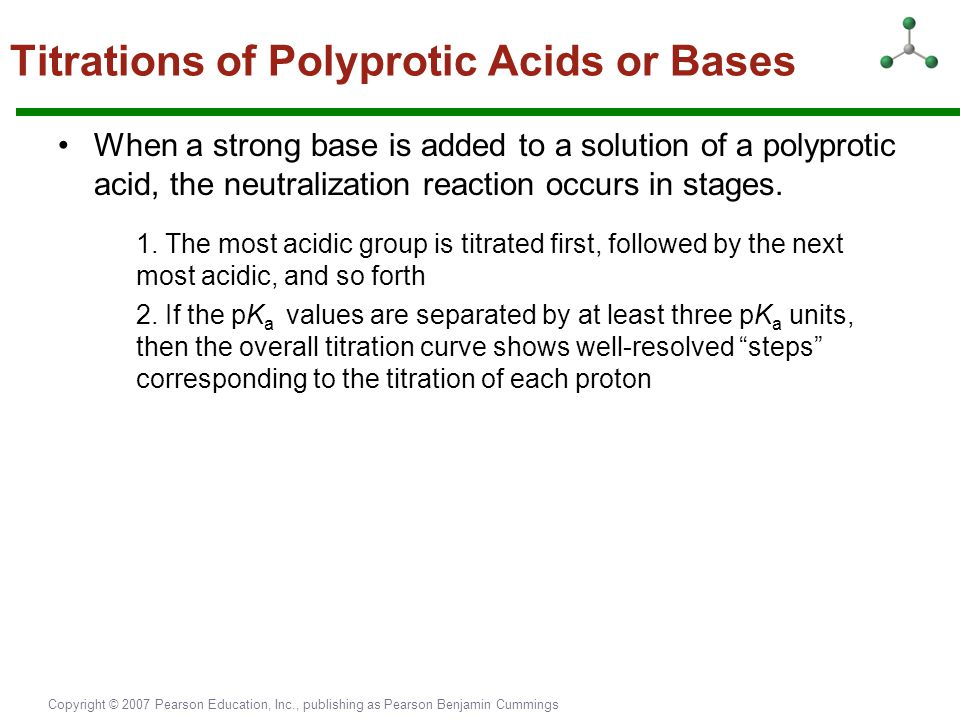 Titrations of Polyprotic Acids or Bases