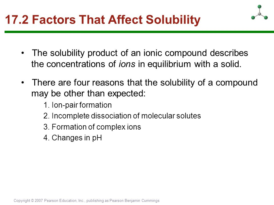 17.2 Factors That Affect Solubility