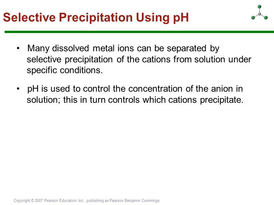 Selective Precipitation Using pH