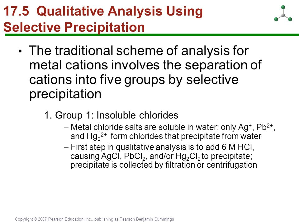 17.5 Qualitative Analysis Using Selective Precipitation