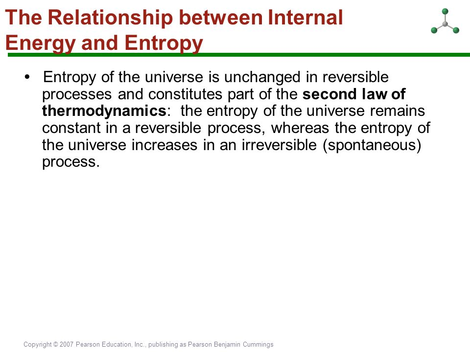 The Relationship between Internal Energy and Entropy