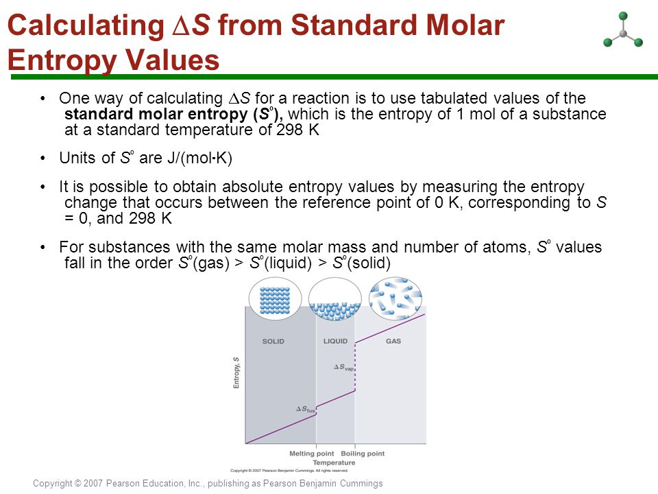 Calculating S from Standard Molar Entropy Values