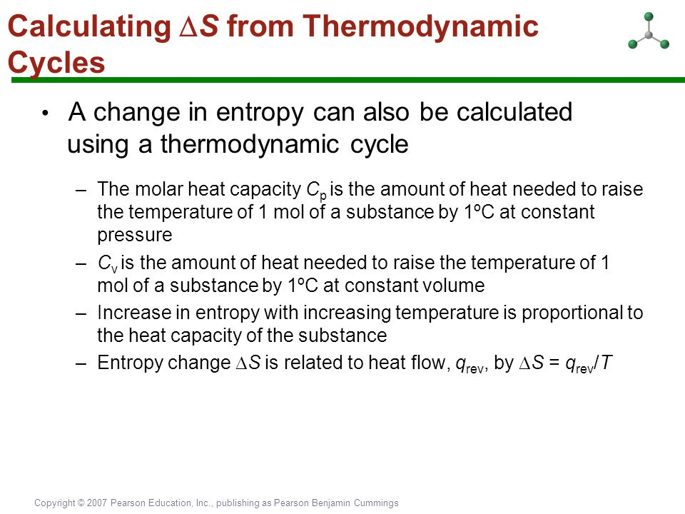 Calculating S from Thermodynamic Cycles