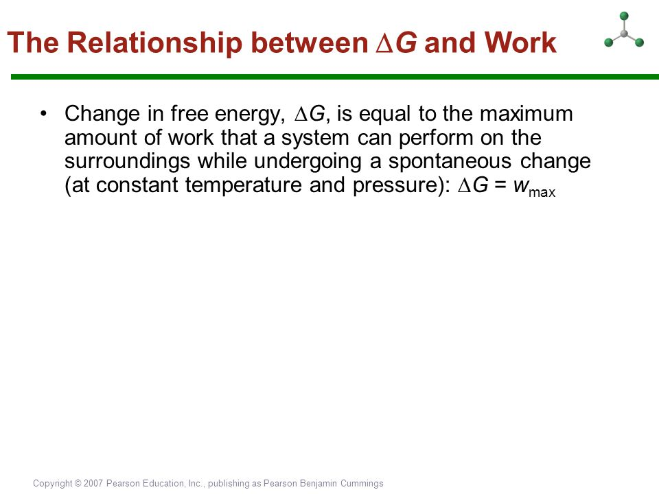 The Relationship between G and Work