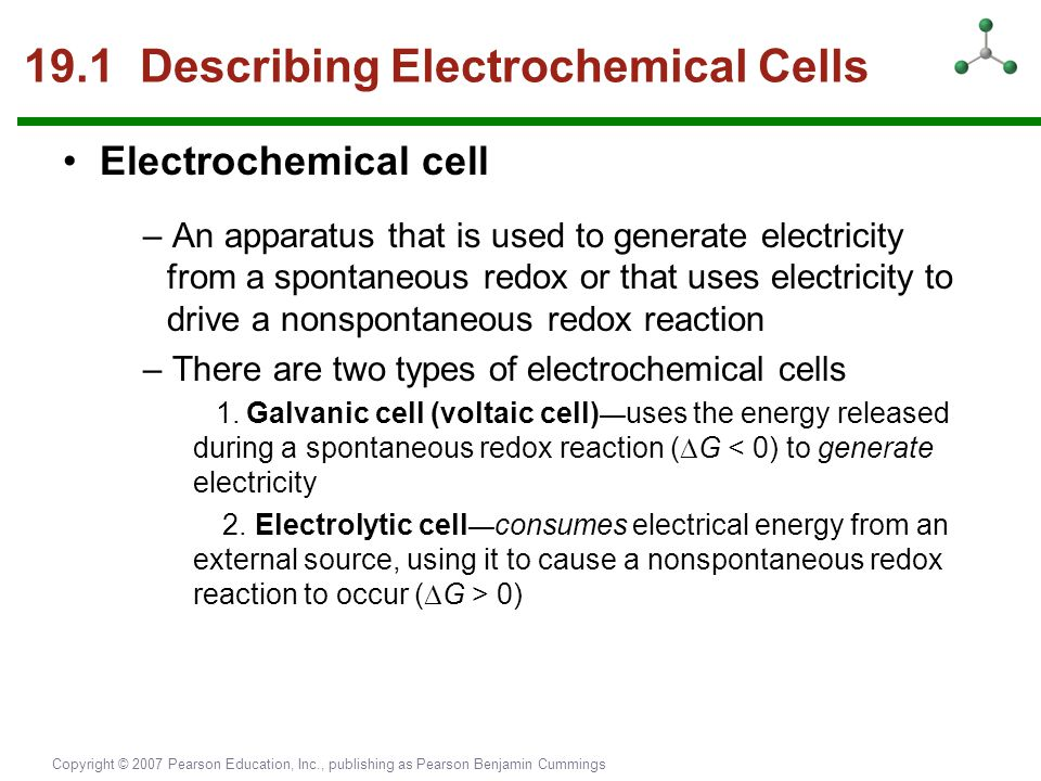 19.1 Describing Electrochemical Cells