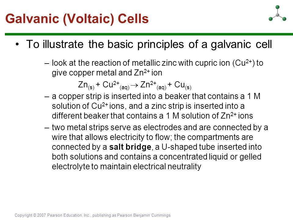 Galvanic (Voltaic) Cells