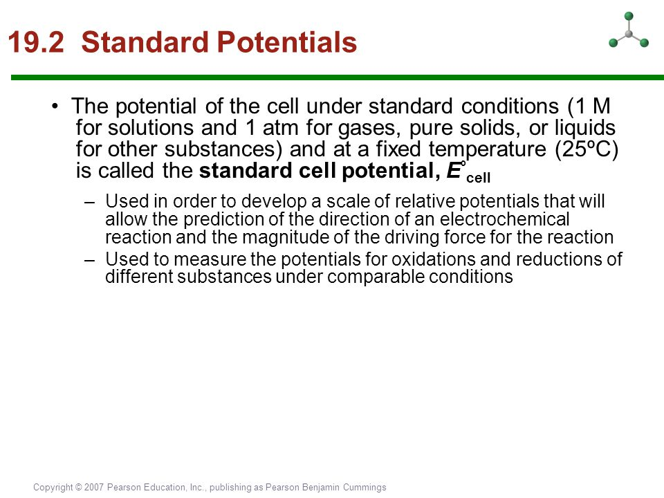 19.2 Standard Potentials
