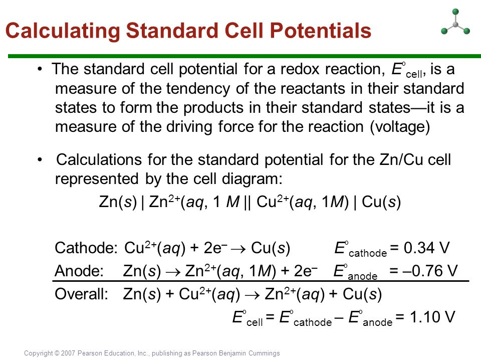 Calculating Standard Cell Potentials