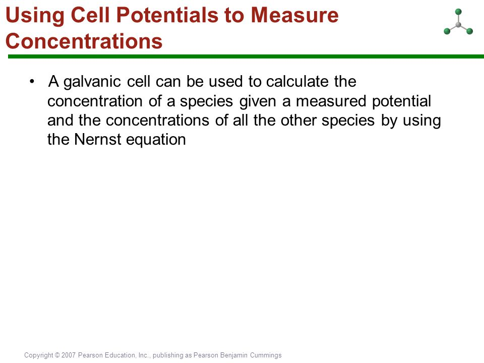 Using Cell Potentials to Measure Concentrations