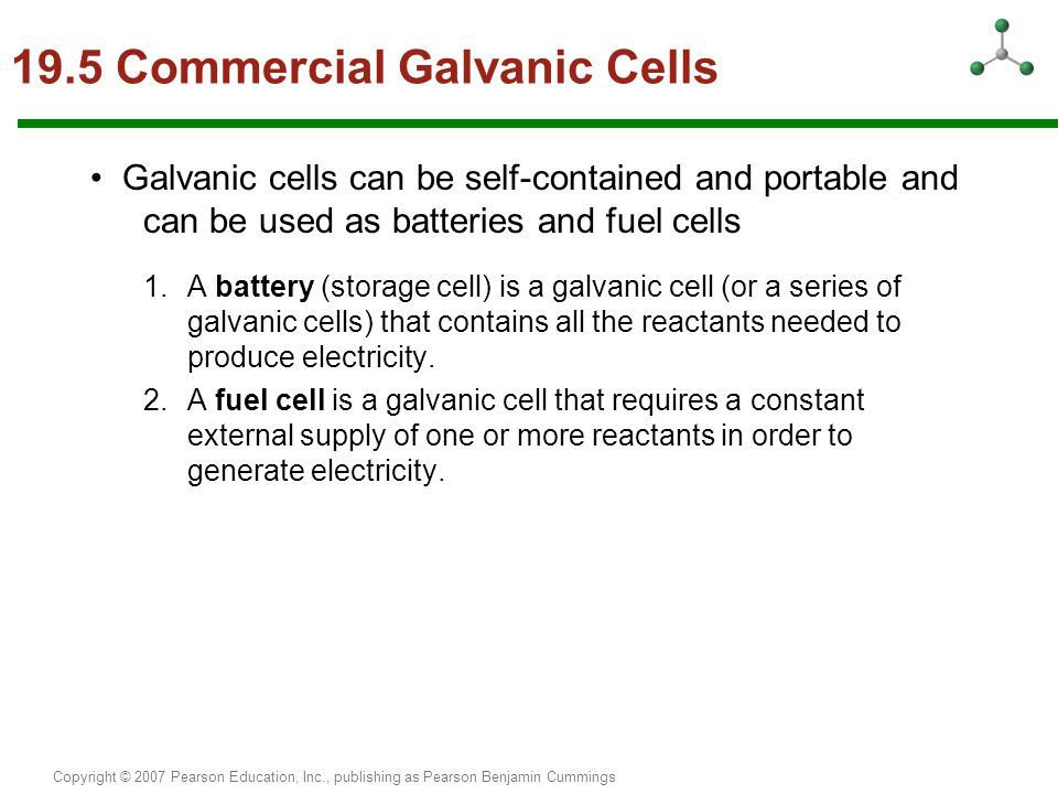 19.5 Commercial Galvanic Cells
