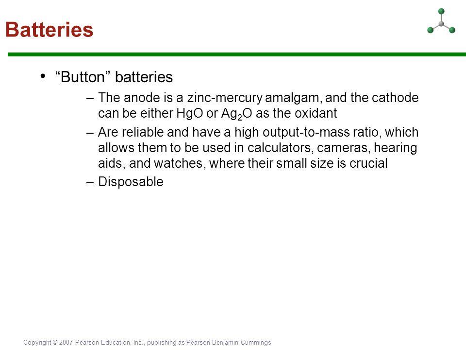 Batteries • Button batteries