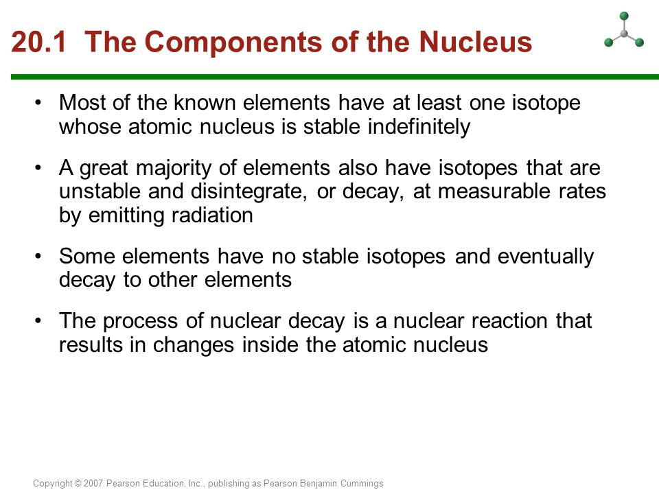 20.1 The Components of the Nucleus