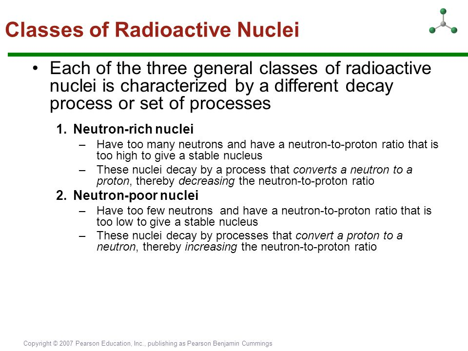 Classes of Radioactive Nuclei