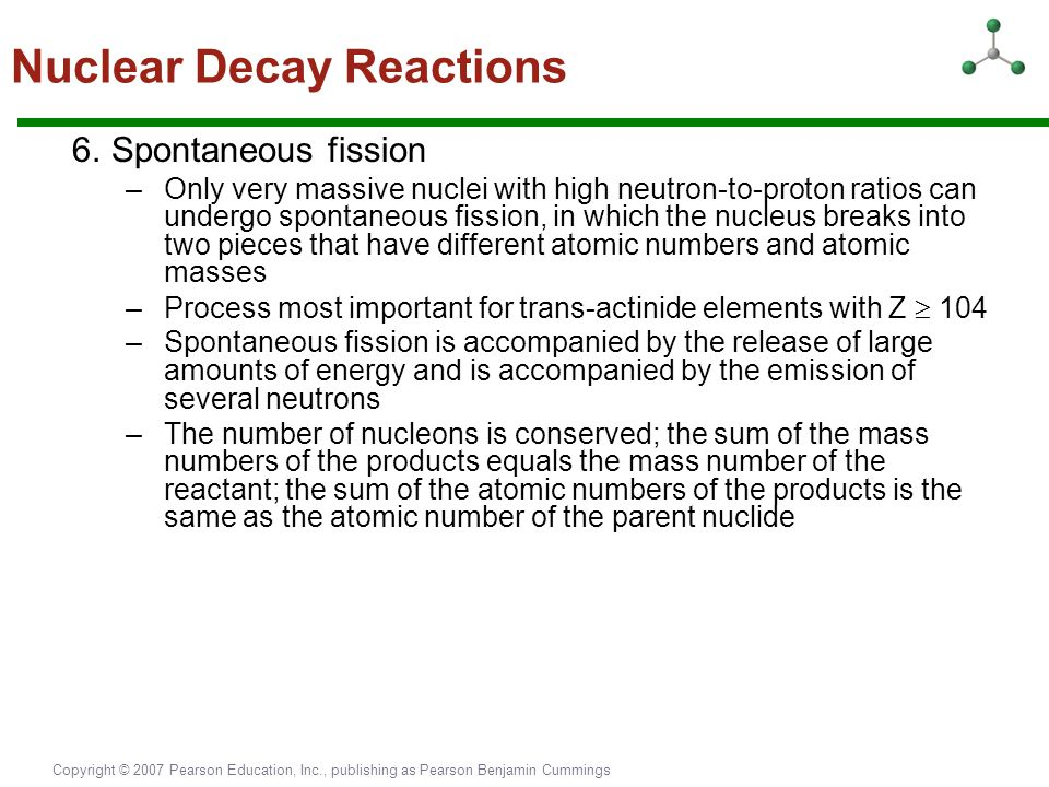 Nuclear Decay Reactions