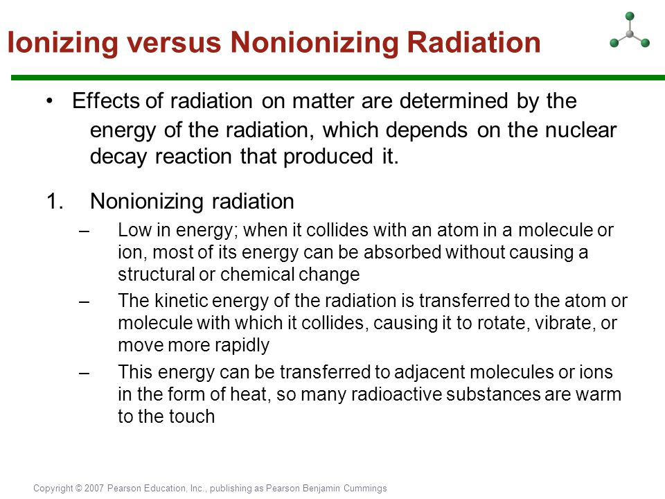 Ionizing versus Nonionizing Radiation
