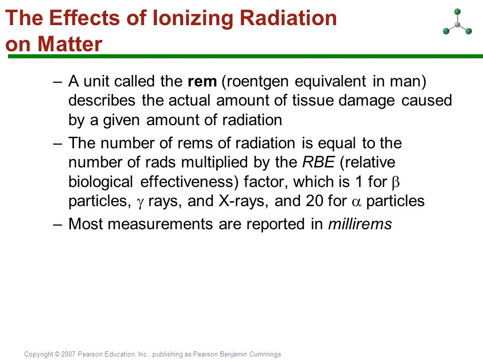 The Effects of Ionizing Radiation on Matter