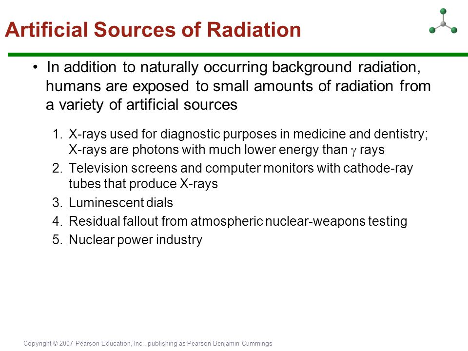 Artificial Sources of Radiation