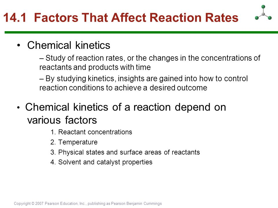14.1 Factors That Affect Reaction Rates