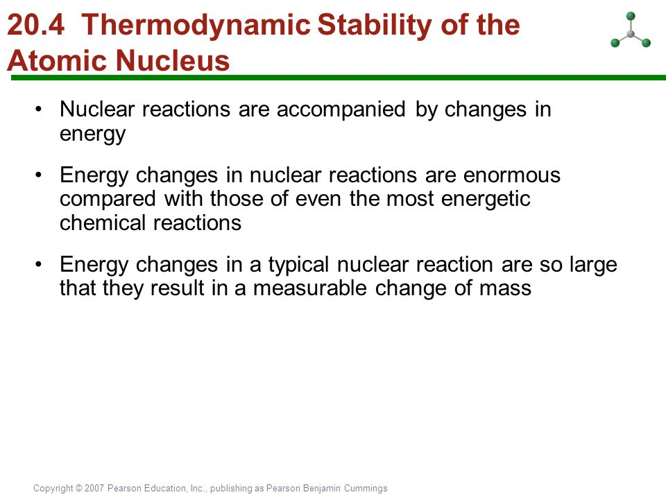 20.4 Thermodynamic Stability of the Atomic Nucleus
