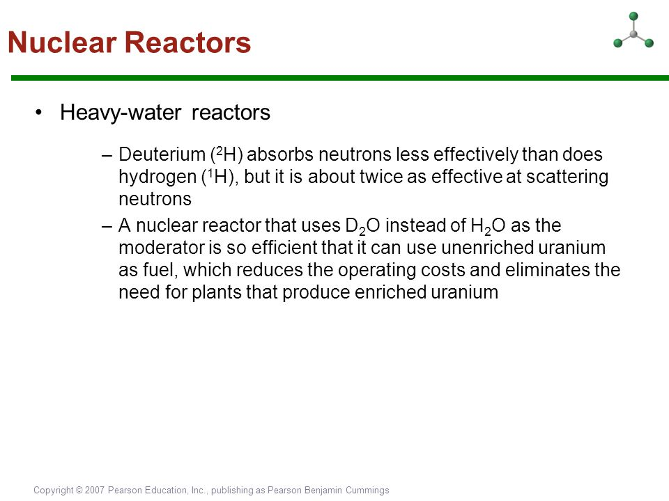 Nuclear Reactors Heavy-water reactors