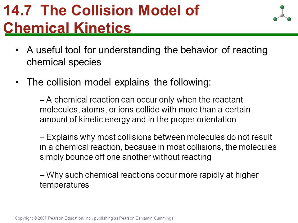 14.7 The Collision Model of Chemical Kinetics