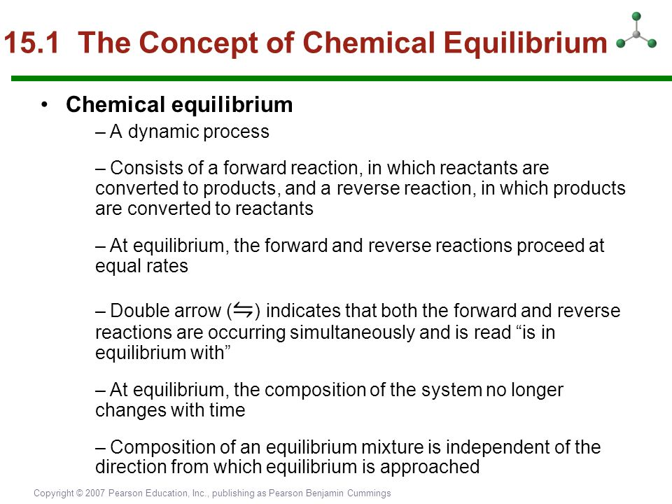 15.1 The Concept of Chemical Equilibrium