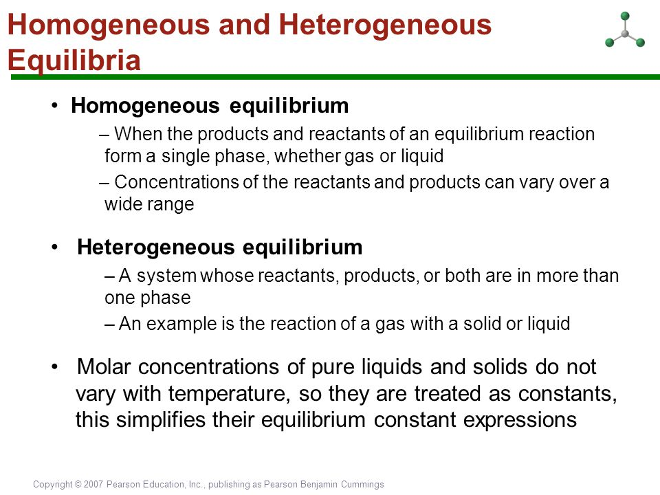 Homogeneous and Heterogeneous Equilibria