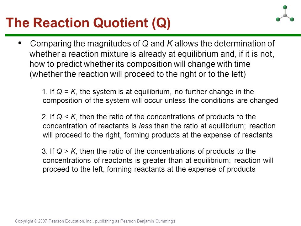 The Reaction Quotient (Q)