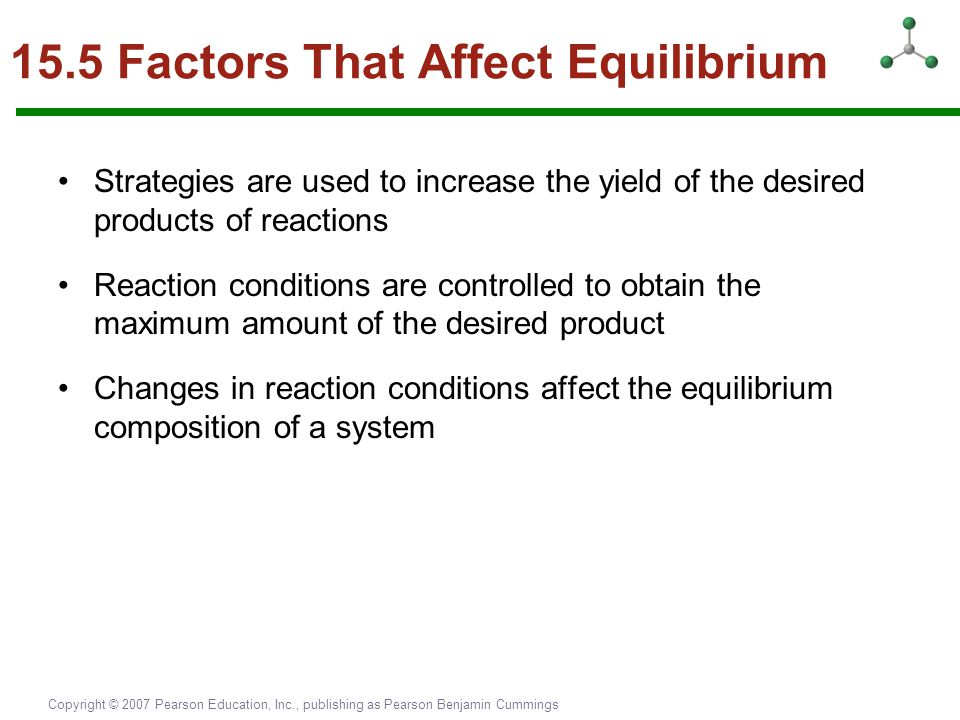 15.5 Factors That Affect Equilibrium