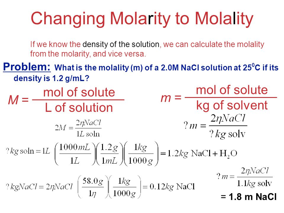 how to remember molality and molarity