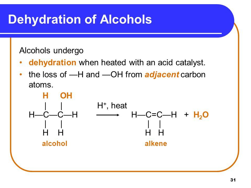 Dehydration of Alcohols