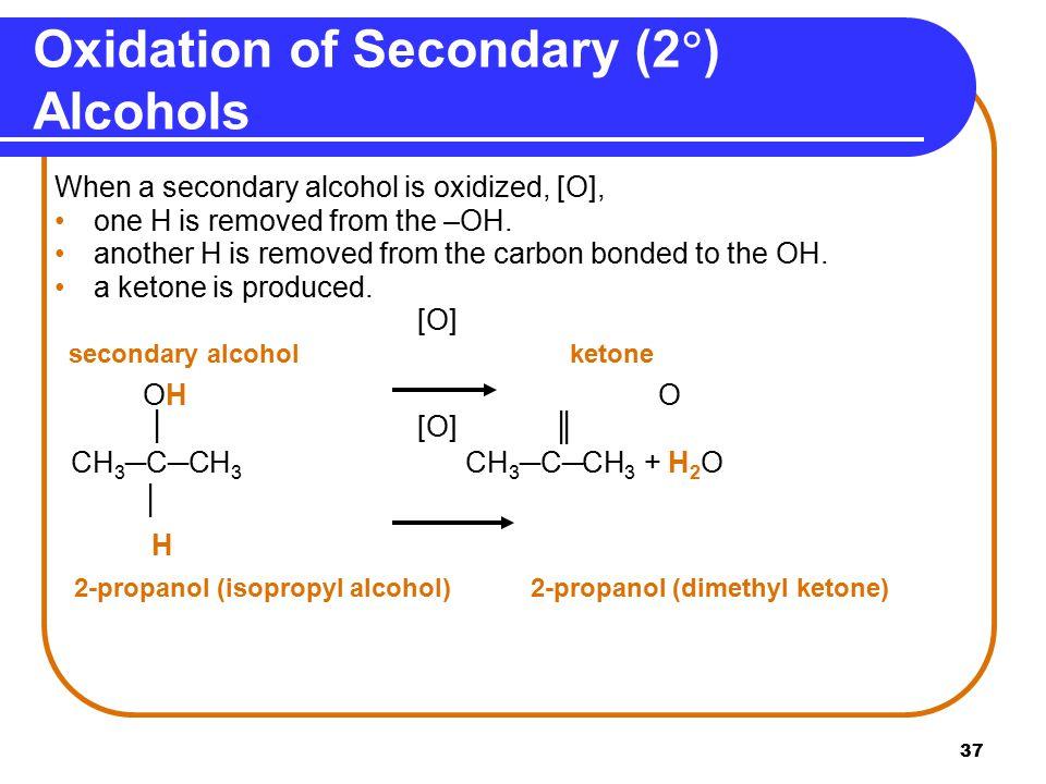 Oxidation of Secondary (2) Alcohols