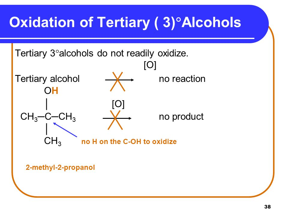 Oxidation of Tertiary ( 3)Alcohols