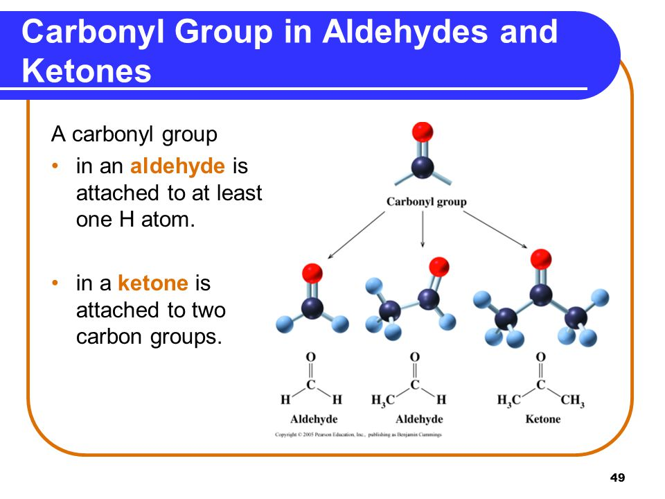 Carbonyl Group in Aldehydes and Ketones