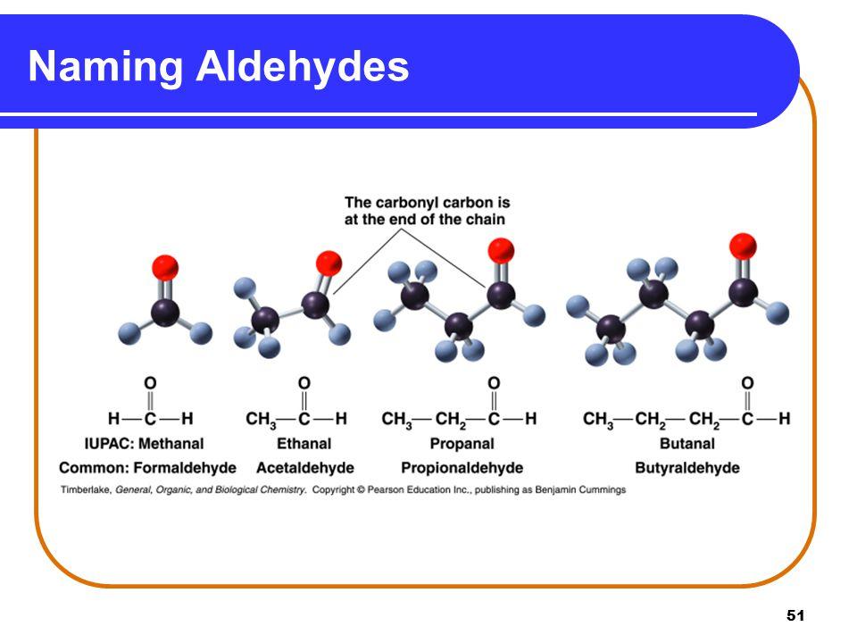 Naming Aldehydes