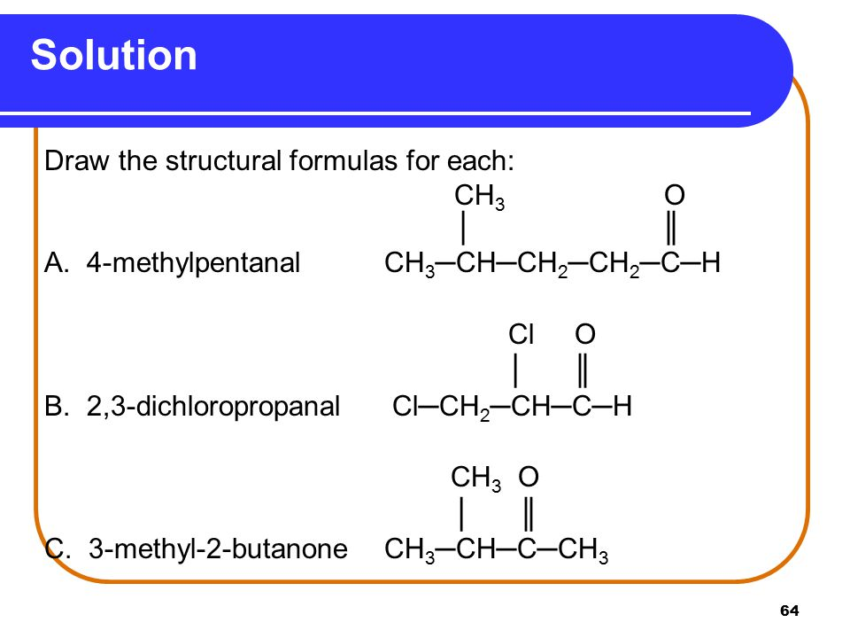 Solution Draw the structural formulas for each: CH3 O │ ║