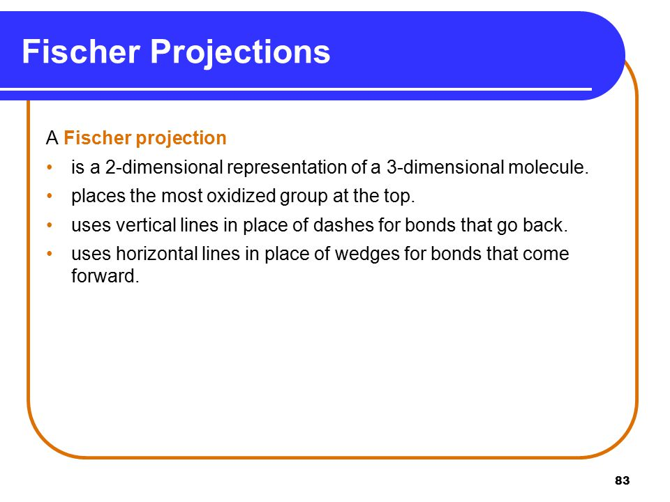 Fischer Projections A Fischer projection