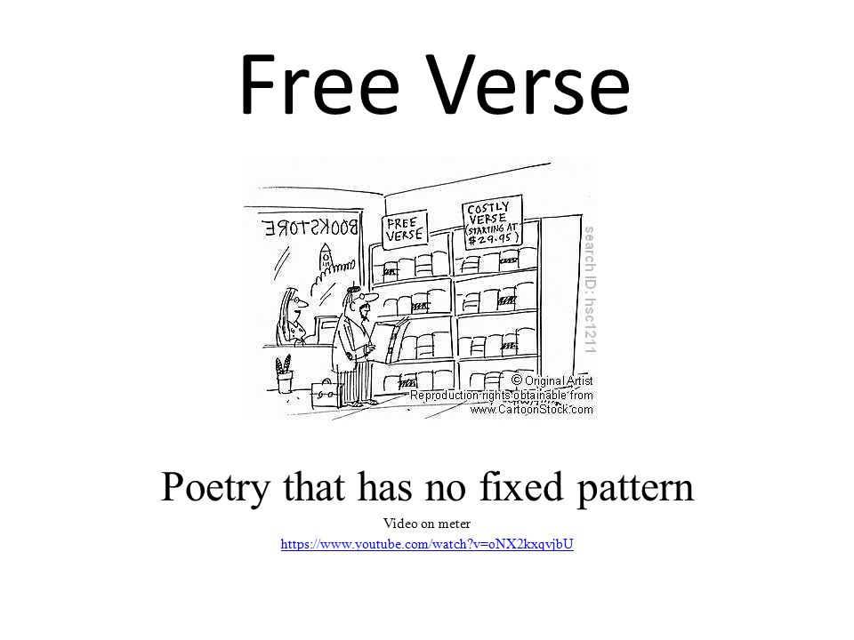 Poetry that has no fixed pattern