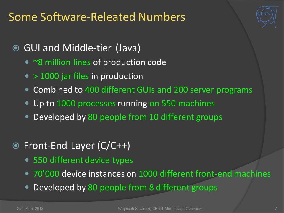 Some Software-Releated Numbers
