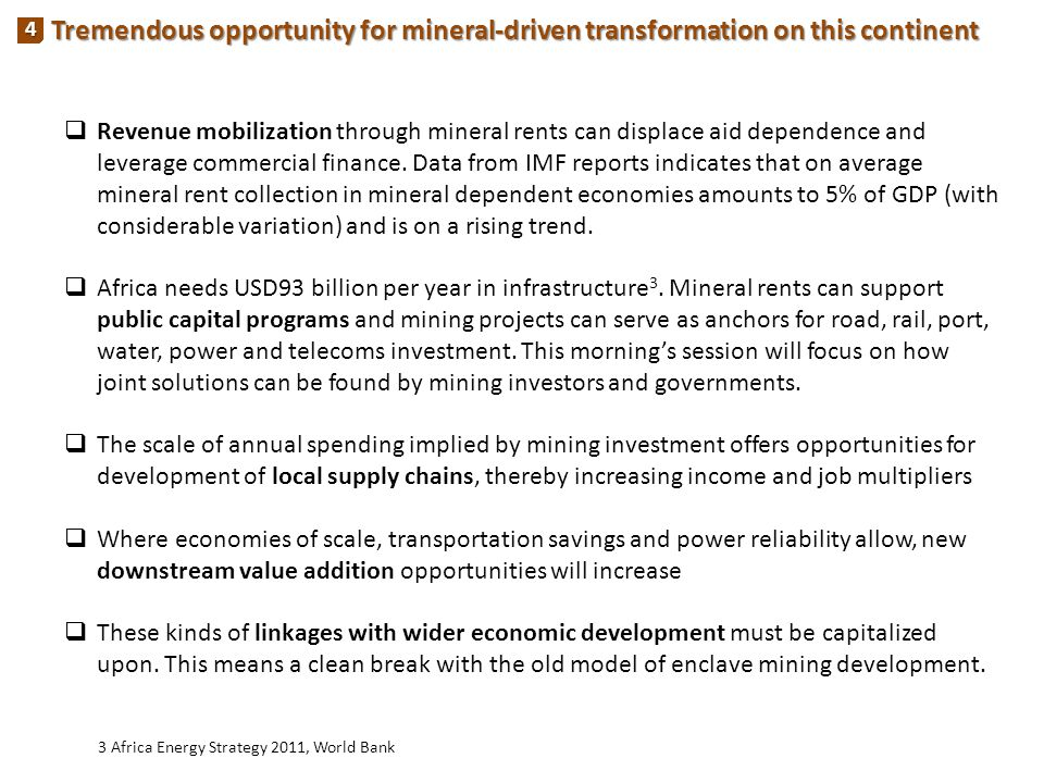 Tremendous opportunity for mineral-driven transformation on this continent