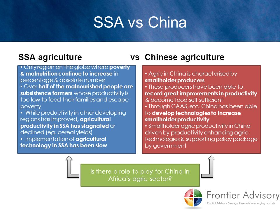 Is there a role to play for China in Africa's agric sector