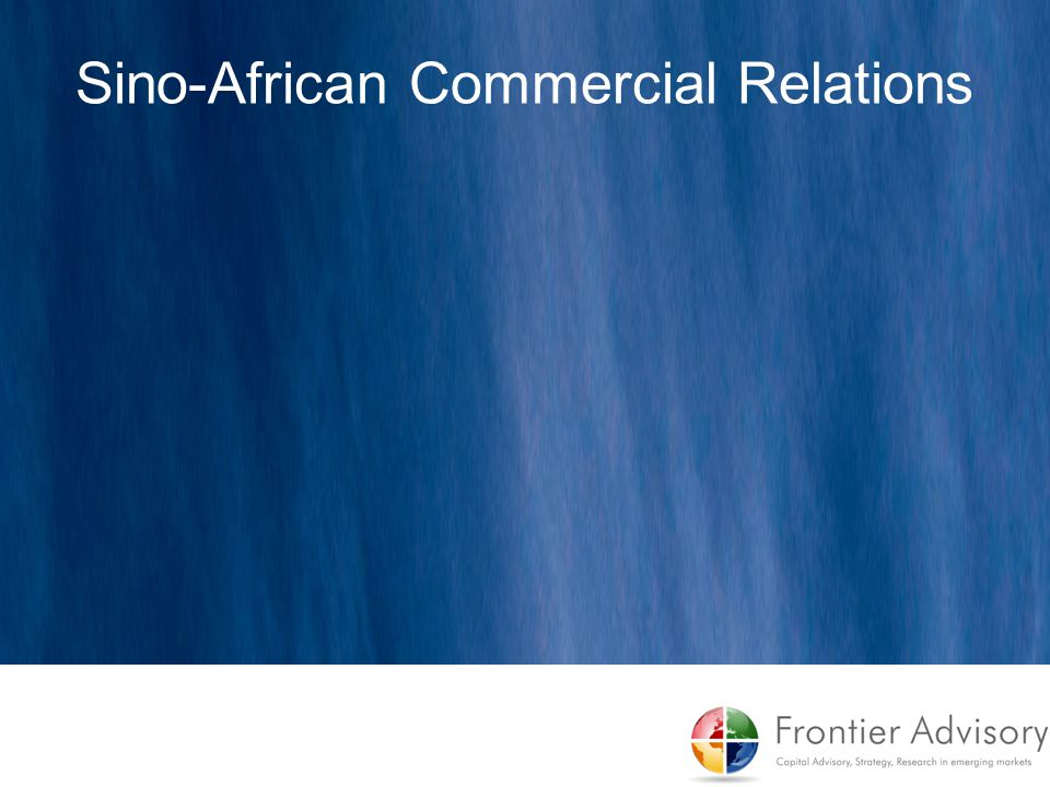 Sino-African Commercial Relations