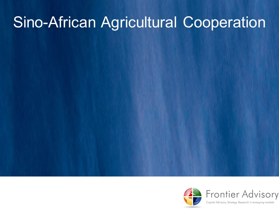 Sino-African Agricultural Cooperation