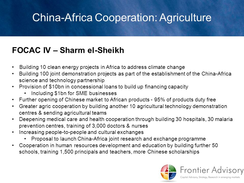 China-Africa Cooperation: Agriculture